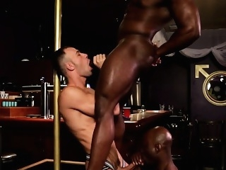 Cocksucking and anal fucking interracial trio black gays (gay) blowjob (gay) gays (gay)