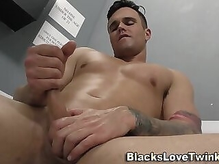 Whitey gets interracial ass fuck and spermed gay