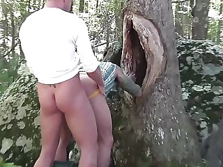 Deep Woods bareback (gay) big cock (gay) blowjob (gay)