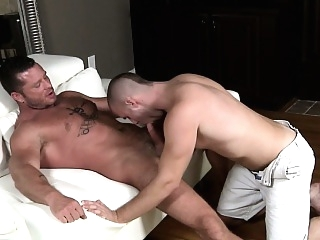 Atticus Benson drooling on cock blowjob (gay) gays (gay) hunks (gay)