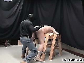 Horny gay dude gets bound bay a masked dude and is spanked amateur (gay) bdsm (gay) gays (gay)