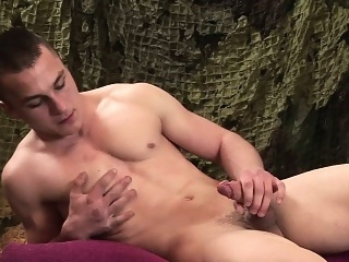 Young and Muscular Alex Novak Jerks Off gays (gay) masturbation (gay) military (gay)