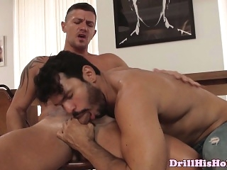 Goran drooling on Jean Frankos rod blowjob (gay) daddies (gay) gays (gay)