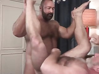 Brad Kalvo and Johnny Pierce (BAB P1) bareback bear hunk